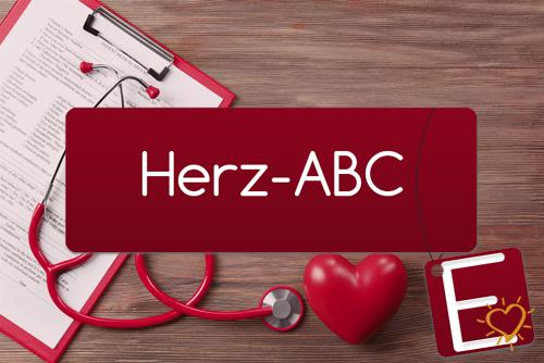 Herz-ABC Buchstabe E