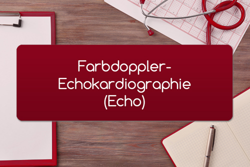Farbdoppler-Echokardiographie Echo
